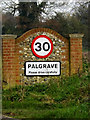 TM1178 : Palgrave Village Name sign on Lion Road by Adrian Cable
