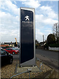 TM1178 : Peugeot sign at Rose Lane Garage by Adrian Cable