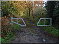 SU9360 : Barrier, Priest Lane by Alan Hunt