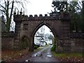 NN9904 : Archway to Castle Devon Hotel, Glendevon by Becky Williamson