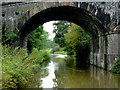 SJ8965 : Canal and railway bridge near North Rode, Cheshire by Roger  Kidd