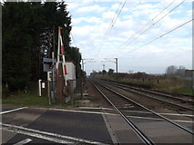 TM1278 : Railway Line at Palgrave Level Crossing by Adrian Cable