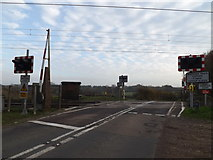 TM1278 : Palgrave Level Crossing on Crossing Road by Adrian Cable
