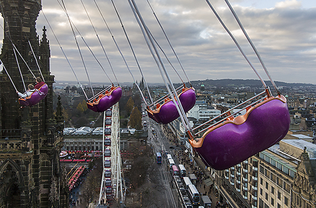 View from the Edinburgh Star Flyer