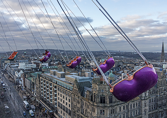 View from the Edinburgh Star Flyer