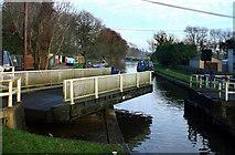 SU6269 : Bridge in mid swing by Des Blenkinsopp