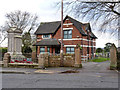 SK5055 : Kirkby in Ashfield Cemetery lodge and war memorial by Alan Murray-Rust