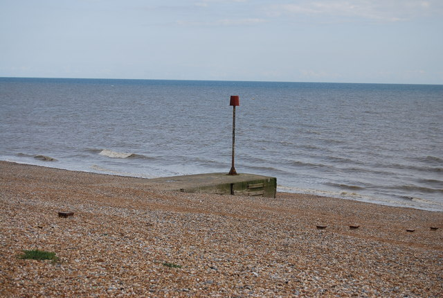 Outfall on the beach