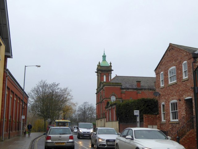 Traffic congestion in Chester Street, Shrewsbury