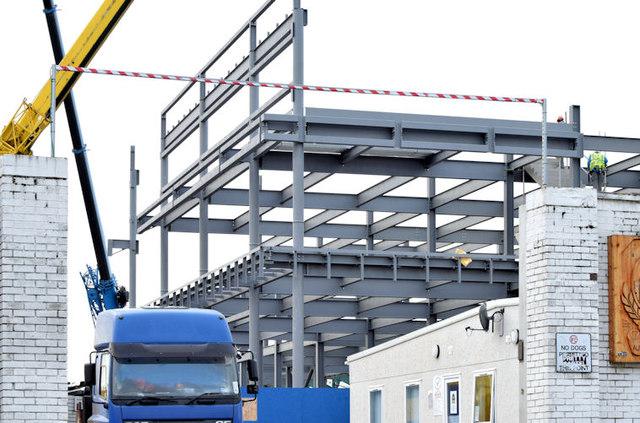 The new Railway Stand, Windsor Park, Belfast - December 2014(2)