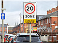 J3272 : 20 mph zone, Ebor Street, Belfast (December 2014) by Albert Bridge