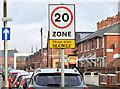 J3272 : 20 mph zone, Ebor Street, Belfast (December 2014) by Albert Bridge