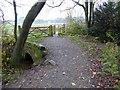SJ4333 : Stone bridge in Yell Wood by David Smith