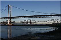 NT1278 : Forth Bridges from Port Edgar by Anne Burgess