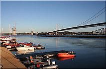 NT1278 : Three Bridges and a Pontoon by Anne Burgess