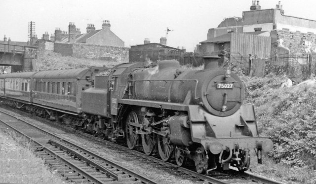 Lawrence Hill: BR Standard 4-6-0 on local train, 1959