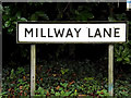 TM1178 : Millway Lane sign by Adrian Cable