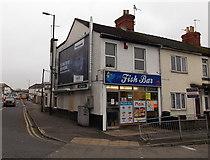 SU1585 : J & J Fish Bar, Swindon by Jaggery