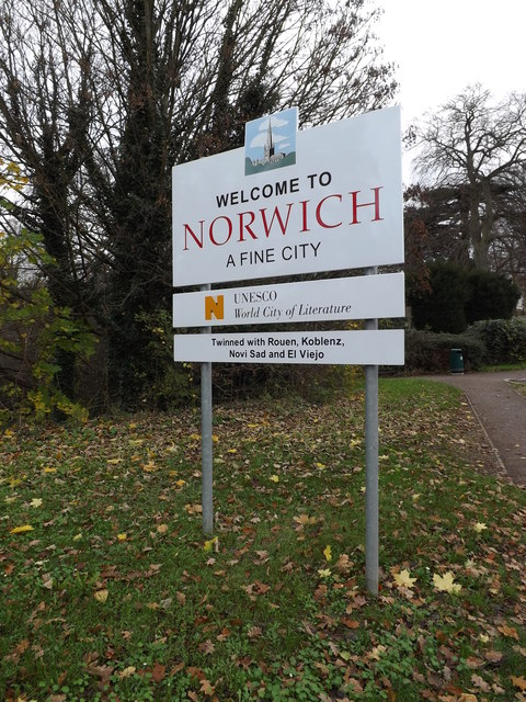Welcome to Norwich sign