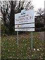 TG1908 : Welcome to Norwich sign by Adrian Cable