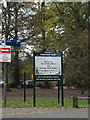 TG1908 : Earlham Park sign by Adrian Cable