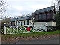 TF8627 : Former railway station at Raynham Park, Norfolk by Richard Humphrey