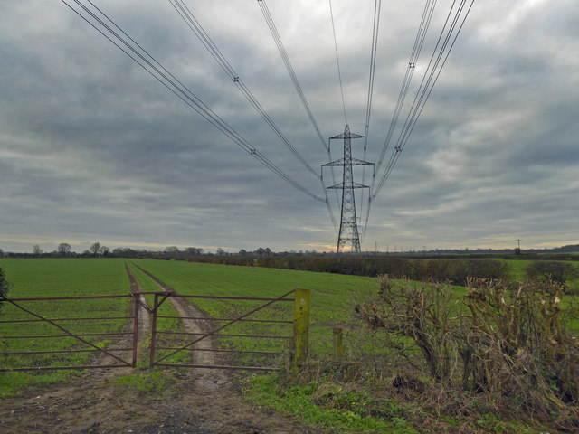 Power lines from Stancil Lane