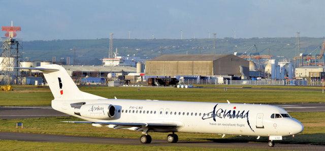 PH-LND, George Best Belfast City Airport (December 2014)