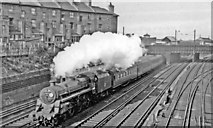TQ2775 : Waterloo - Basingstoke train pulling away from Clapham Junction, 1958 by Ben Brooksbank