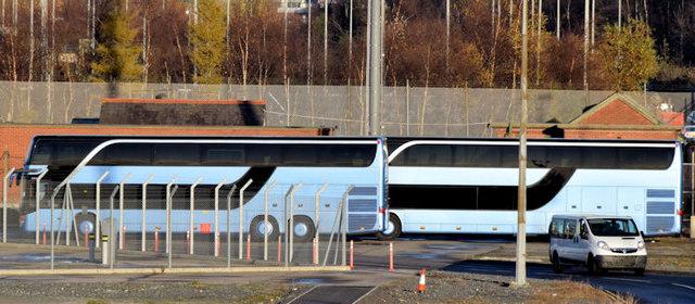André Rieu-liveried coaches, George Best Belfast City Airport (December 2014)