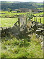 SE0027 : Stile above footpath gate on Wadsworth FP77 by Humphrey Bolton