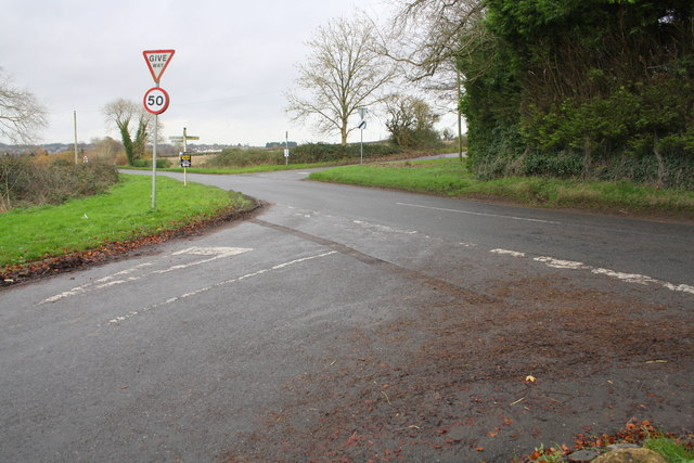 B4450 crossroads on a dank afternoon