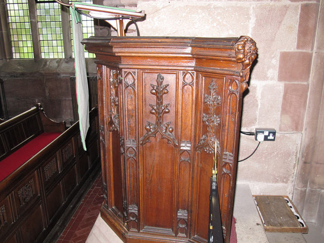 Church of St Michael, Marbury: pulpit