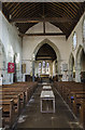 TQ6404 : Interior, St Nicholas' church, Pevensey by Julian P Guffogg