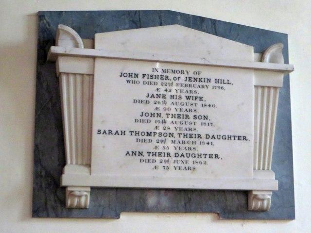 Memorial plaque, Church of St Mary, Thornthwaite