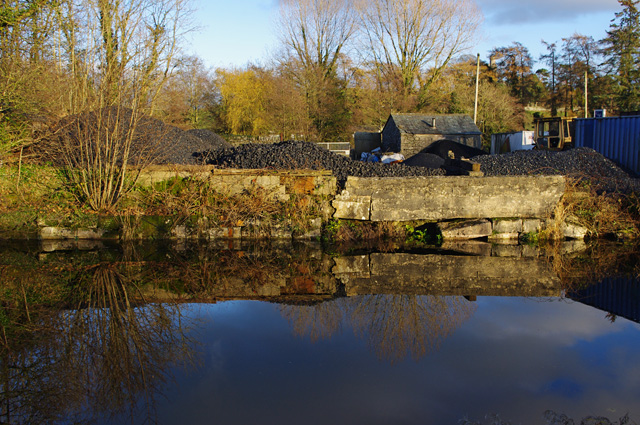 Coal yard by Lancaster Canal