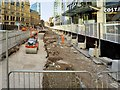 SJ8498 : Metrolink Second City Crossing Construction, Exchange Square by David Dixon