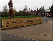SU5290 : Ladygrove Loop name sign in Didcot by Jaggery
