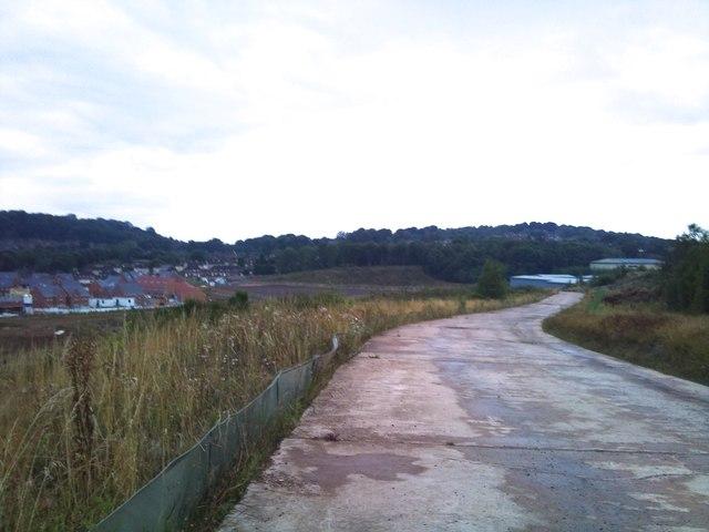 Silverdale Country Park: concrete slab road