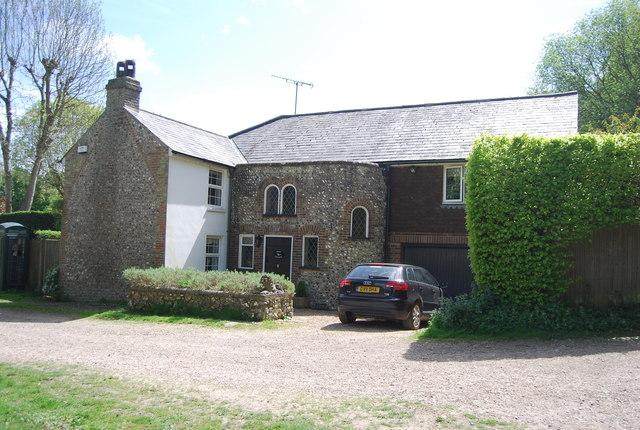 Flint built cottage, Westdean
