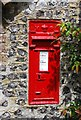 TV5299 : Victorian postbox, Westdean by N Chadwick