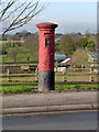 SK4855 : Church Hill postbox (Kirkby-in-Ashfield) ref NG17 411 by Alan Murray-Rust