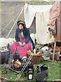 TQ7468 : Victorian beggar lady, Rochester by David Anstiss