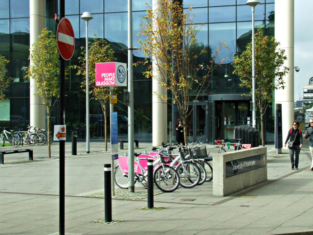 Nextbike Glasgow cycle hire point: University of Strathclyde (North)