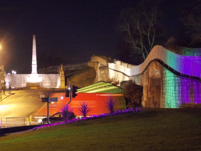 York: nighttime colour on the city walls