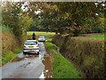 SP0574 : Tailbacks, Watery Lane west of Weatheroak by Robin Stott