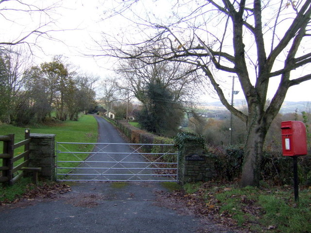 Drive and footpath