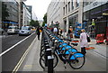 TQ3281 : Barclay Cycle Hire, Cheapside by N Chadwick