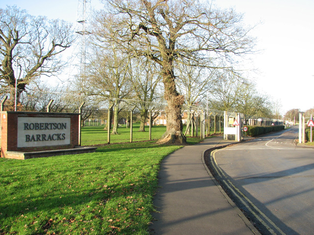 The entrance to Robertson Barracks