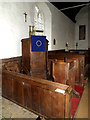 TM3485 : Pulpit of St.Margaret's Church by Adrian Cable